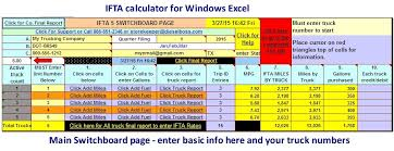 Ifta Spreadsheet Microsoft Excel Spreadsheet For Calculating Ifta Fuel Tax