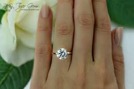 3 carat ring 3 carat 4 prong engagement ring solitaire ring made