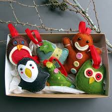 deluxe handmade felt christmas decorations by thebigforest