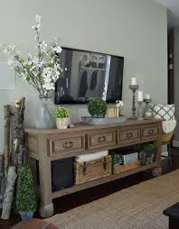 Ideas For Sofa Tables Best 25 Tv Console Decorating Ideas On Pinterest Tv Stand Decor