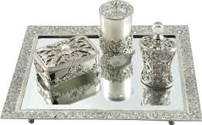 Mirrored Vanity Set Vanities Vintage Vanity Tray Set Get Quotations A New Design