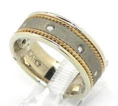 mens two tone wedding bands men s 14k two tone diamond twisted wire wedding band bright jewelers