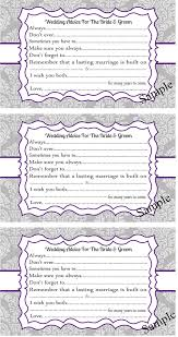 and groom advice cards wedding advice cards for the and groom damask purple and