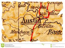 Map Austin by Austin Map Stock Photo Image 42920540