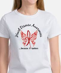 heart disease ribbon tattoos t shirts cafepress