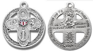 catholic medals four way catholic vintage medal