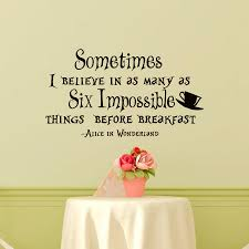 Alice And Wonderland Home Decor by Popular Believe Wall Stickers Buy Cheap Believe Wall Stickers Lots