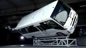 lexus gx rollover toyota coaster roll over test youtube