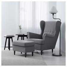Ikea Chairs Living Room Strandmon Wing Chair Nordvalla Gray Ikea