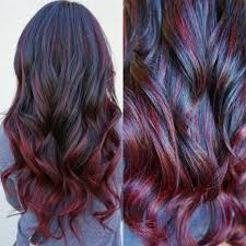 correction ombre to red sombre career ombre hair coloring