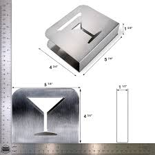 pro chef kitchen tools stainless steel cocktail napkin holder metal