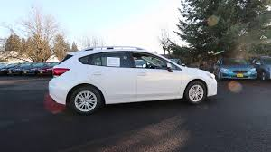 white subaru hatchback 2018 subaru impreza 2 0i premium white j3717238 kent tacoma