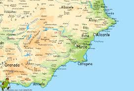 Almeria Spain Map by