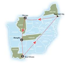 Chicago To Atlanta Map by Crescent Amtrak Vacations