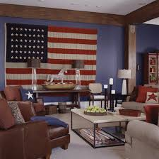 Patriotic Home Decorations Red White U0026 Blue It U0027s A Grand Old Flag Traditional Home