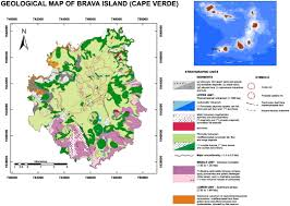 Cabo Verde Map Volcano Stratigraphic And Structural Evolution Of Brava Island