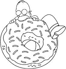 donut coloring pages getcoloringpages com