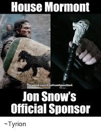 Jon Snow Memes - house mormont facebookcomaryafromhousestark jon snow s official