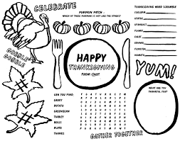 printable thanksgiving placemat for chinet