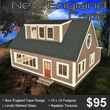 second life marketplace new england style cape house