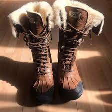 ugg boots womens tularosa chestnut lace up s ugg lace up boot on poshmark