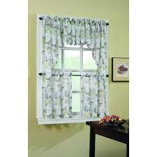 lichtenberg merlot wine country printed textured sheer curtain