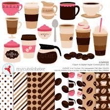 espresso coffee clipart coffee clipart u0026 digital paper set clip art set of coffee cups