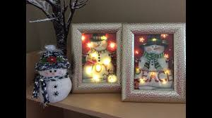 Bethlehem Lights Snowman by Dollar Tree Lighted Christmas Bag Diy Youtube