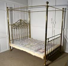 victorian art nouveau 4 poster double brass bed loveantiques com