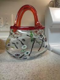 Murano Glass Purse Vase Murano Glass Toy Italian Murano Glass Pinterest Glasses