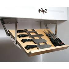this under cabinet knife block gives you a simple way to store and