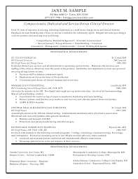 Objective On A Resume Examples Clinical Director Resume