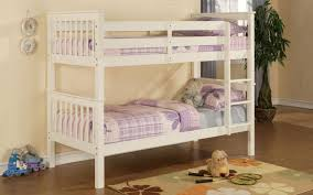 White Wooden Bunk Bed Brilliant White Wooden Bunk Bed Solid Wood White