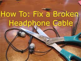 how to fix broken headphones cut in half youtube
