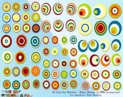 colorful bubbles retro design colorful background wallpapers