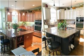 Painting Kitchen Cabinets Before Amp by Painted Kitchen Cabinets Web Art Gallery Paint Kitchen Cabinets