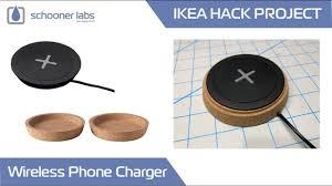 ikea charging station ikea hack wireless phone charging station youtube