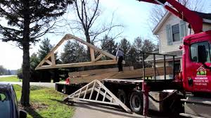 ben s solar garage truss delivery youtube ben s solar garage truss delivery