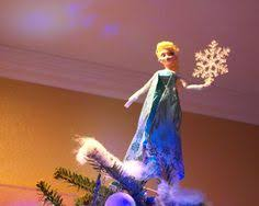 disney s frozen themed tree with elsa tree topper