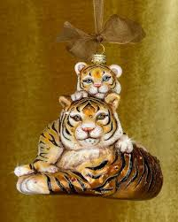 strongwater baby tiger ornament z