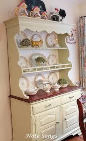 filling up my breakfast hutch again from my home pinterest