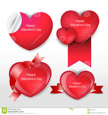 happy valentines day heart template stock vector image 36291685