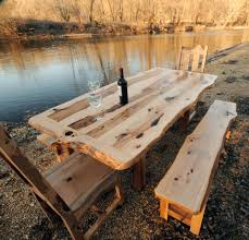 Patio Dining Set With Bench - rustic dining table with bench video and photos madlonsbigbear com