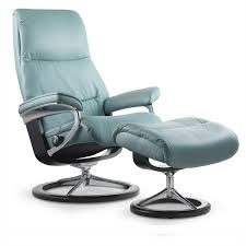 stressless view medium chair and ottoman signature base