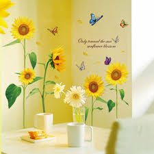 diy wall sticke removable decal stickers sunshine sunflower diy wall sticke removable decal stickers sunshine sunflower butterfly dancing in summer stickers kid s child room