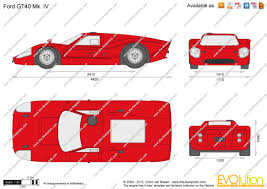 the blueprints com vector drawing ford gt40 mk iv