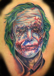 joker portrait tattoo design