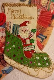 christmas stocking ideas best 25 vintage christmas stockings ideas on pinterest vintage