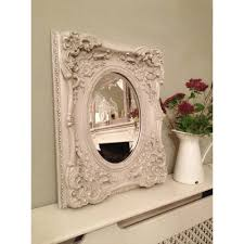 pretty ivory shabby chic mirror oval glass ayers u0026 graces online