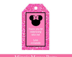 minnie mouse tags etsy